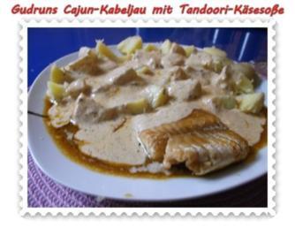Fisch: Cajun-Kabeljau mit Tandoori-Käsesoße - Rezept