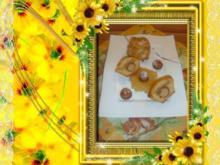 Kuchen : Muffins mit Amaretto Apfelkompott und Marzipankartoffeln - Rezept