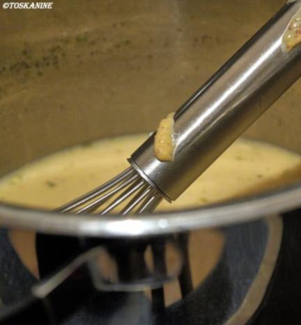 Pochierte Eier auf Linsengemüse mit einer Senfsauce - Rezept - Bild Nr. 8