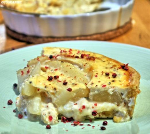 Ziegenkäse-Birnen-Tarte - Rezept