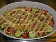 kalter Spargel auf Salatbett - Rezept