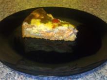 Lachs Quiche mit Frischkäse - Rezept