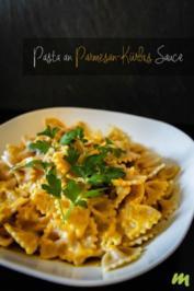 Pasta an Parmesan-Kürbis Sauce - Rezept