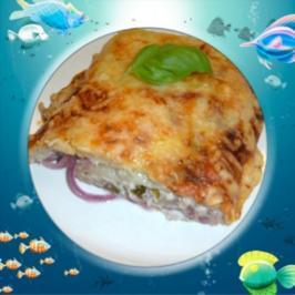 Blätterteig : gefüllt mit Thunfisch - Joghurtcreme - Rezept