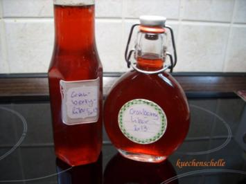 Likör: Cranberry-Vanille-Likör - Rezept