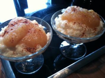Milchreis mit Apfelmus Rezept - Rezept