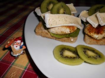 Hähnchen-Kiwi-Toast>> - Rezept
