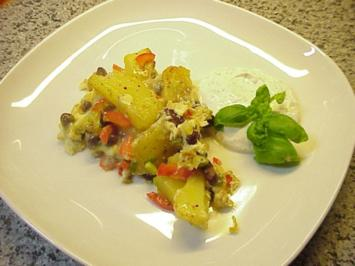 Kartoffel-Bohnen-Tortilla - Rezept