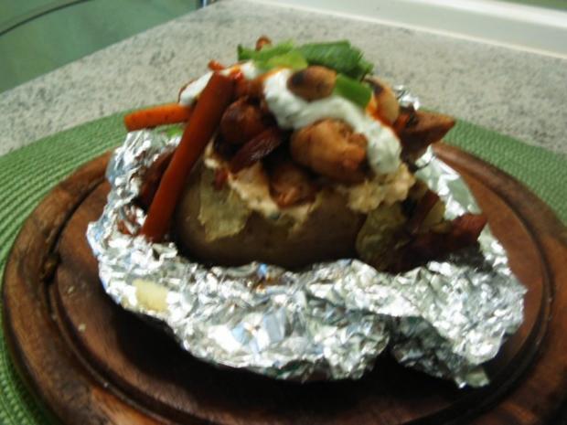 Ofenkartoffel mit Hähnchenbrust gefüllt - Rezept - Bild Nr. 2