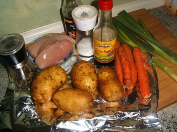 Ofenkartoffel mit Hähnchenbrust gefüllt - Rezept - Bild Nr. 3