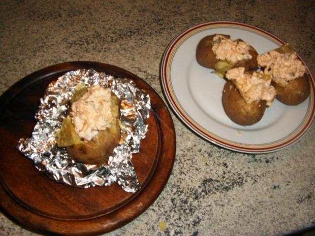 Ofenkartoffel mit Hähnchenbrust gefüllt - Rezept - Bild Nr. 9