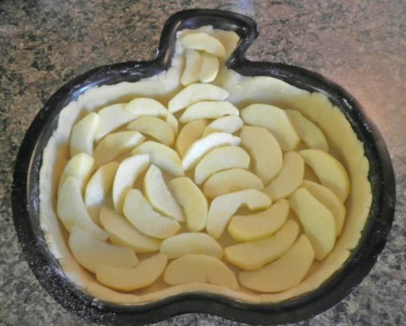 Apfelkuchen mit Zimt - Schmandguss - Rezept - Bild Nr. 8