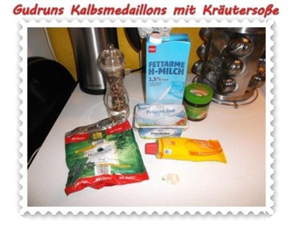 Fleisch: Kalbsmedaillons mit Käse-Kräutersoße und gedämpften Gemüse - Rezept - Bild Nr. 7