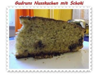 Kuchen: Nusskuchen mit Schoki - Rezept