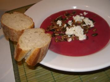 Rote-Bete-Suppe mit Ingwer und Meerrettich - Rezept