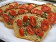 Toast: Aglio-Crostata mit Tomaten - Rezept