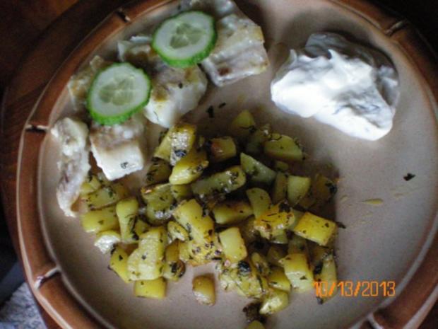 Fischfilet mit gebratenen Kartoffelwürfel - Rezept