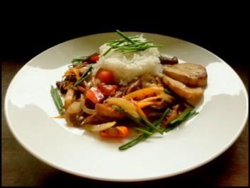 Steinpilze und Reis mit einem Hauch Asien - Rezept