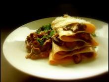 Offene Pilzlasagne mit Hohlfüßen und Maronen - Rezept