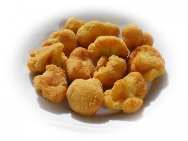 Panierter Blumenkohl dazu gebackene Kartoffeleier - Rezept - Bild Nr. 7