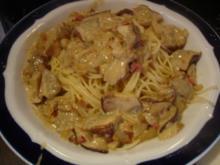 Spaghettinis mit Waldpilzsauce - Rezept