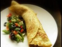 Gefüllte Polenta-Pfannkuchen - Rezept