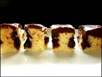 Selters-Kuchen mit Schokoladenguss - Rezept