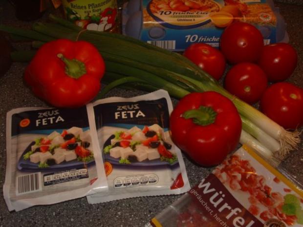 Panierter Feta mit Tomaten-Paprika Gemüse - Rezept - Bild Nr. 2
