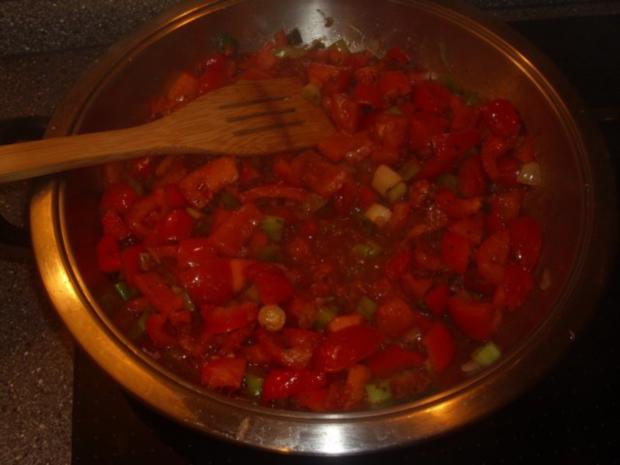Panierter Feta mit Tomaten-Paprika Gemüse - Rezept - Bild Nr. 5