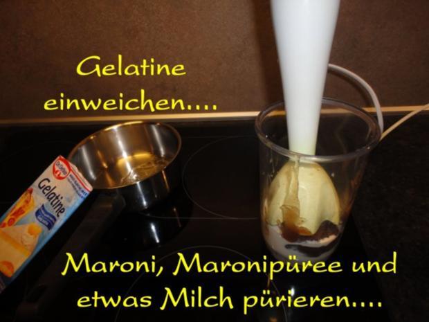 herbstliches Maroni Dessert mit Portwein Birne - Rezept - Bild Nr. 5