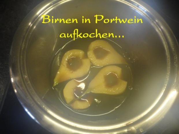 herbstliches Maroni Dessert mit Portwein Birne - Rezept - Bild Nr. 13