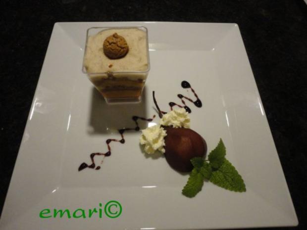 herbstliches Maroni Dessert mit Portwein Birne - Rezept - Bild Nr. 2