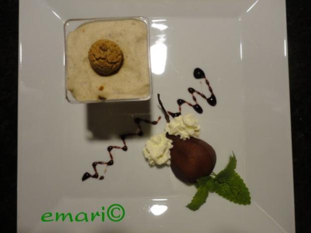 herbstliches Maroni Dessert mit Portwein Birne - Rezept - Bild Nr. 15