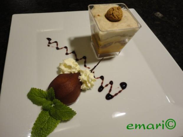 herbstliches Maroni Dessert mit Portwein Birne - Rezept - Bild Nr. 14