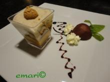 herbstliches Maroni Dessert mit Portwein Birne - Rezept
