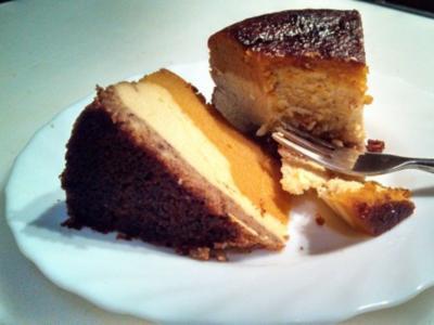 "Pumpkin Cheese Cake  /  "" Cheesecake Factory N.Y.""   /  Kürbis Käse Kuchen - Rezept"