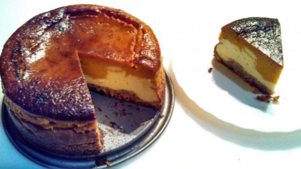 """Pumpkin Cheese Cake  /  """" Cheesecake Factory N.Y.""""   /  Kürbis Käse Kuchen - Rezept - Bild Nr. 10"""