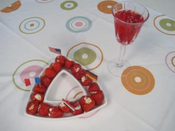 Spiedini alla Romana - Davor Crémant mit Granatapfel und gefüllte Kirschpaprika - Rezept