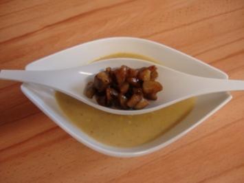 Wurzelcremesuppe mit karamellisierten Maronen - Rezept