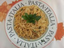 Scharfe Knoblauchspaghetti - Rezept