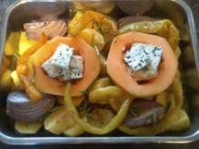 Kartoffel-Melonen Pfanne, als Hauptgericht oder Beilage zu Rindersteak - Rezept