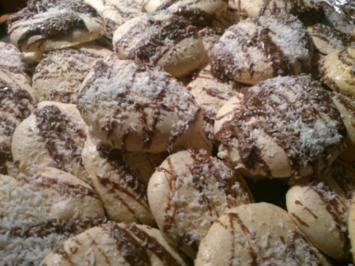 Baiser Schoko-Kokos Kekse - Rezept