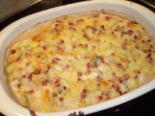 Gnocchi mit Birnen-Gorgonzola-Sauce überbacken - Rezept