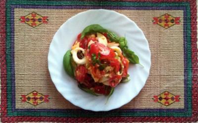 """Tomatensalat   """" HOT """" - Rezept"""