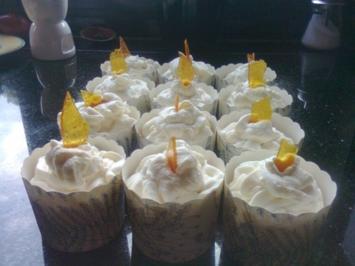 Rezept: Karamellcupcakes mit Karamelltopping und Karamellcrisp