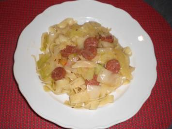 Krautfleckerl mit Chorizo - Rezept