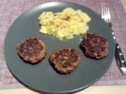 CHILIDELLEN RELOADED GEBAYERT UND CO- Scharfe Fleischpflanzerl mit Rote Ruabn-Salat - Rezept