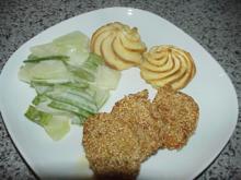 Sesam-Hähnchen auf Kohlrabi - Rezept