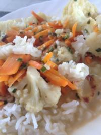 Blumenkohl-Curry mit Reis - Rezept