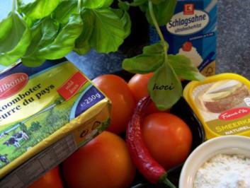Tomaten - Käse - Basilikumsauce - Rezept